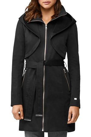Soia & Kyo Women Rainwear - Arabella Zip-Up Hooded Rain Coat