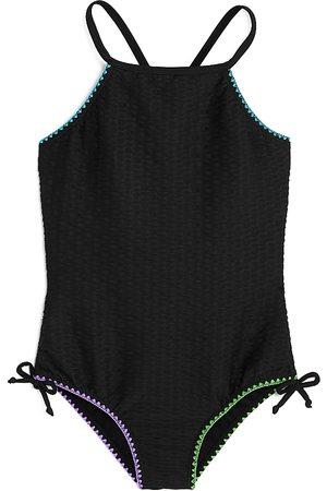 Limeapple Girls Swimsuits - Girls' Reka Textured Swimsuit - Big Kid