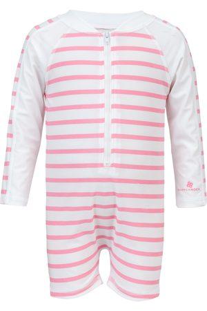 Snapper Rock Infant Girl's Stripe One-Piece Rashguard Swimsuit