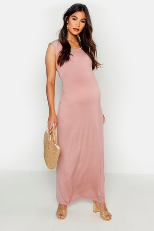 Boohoo Womens Maternity Scoop Neck Maxi Dress - - 4