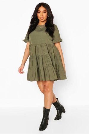 Boohoo Womens Plus Woven Smock Dress - - 12
