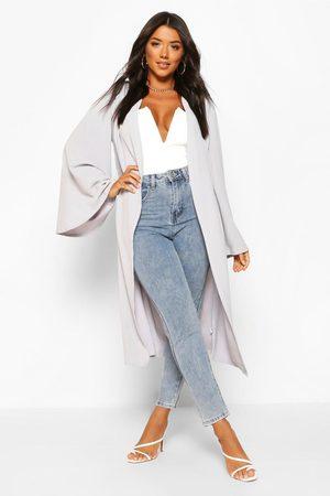 Boohoo Womens Wide Sleeve Kimono - - S