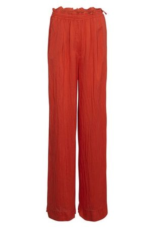 FORTE FORTE Women Wide Leg Pants - Habotai silk wide pants with bindings