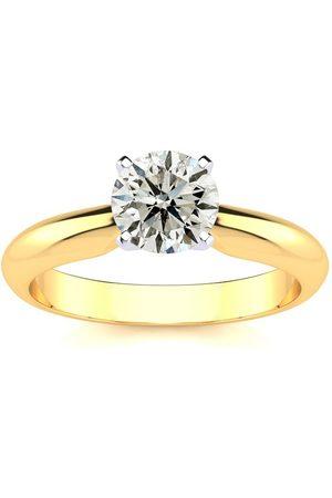 SuperJeweler 1.10 Carat Diamond Solitaire Engagement Ring in 14K (
