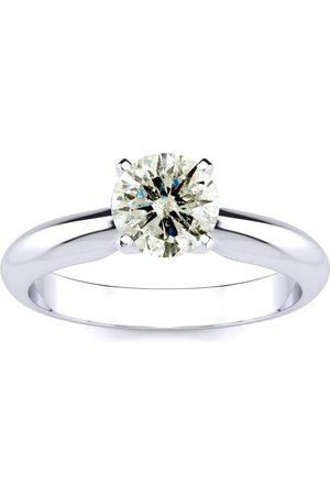 SuperJeweler Women Rings - 1.10 Carat Diamond Solitaire Engagement Ring in 14K (1.5 g) (