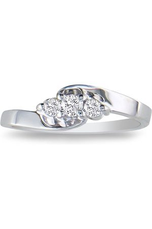 SuperJeweler 1/10 Carat Three Diamond Promise Engagement Ring in Sterling