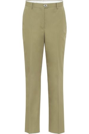 Salvatore Ferragamo High-rise straight cotton pants