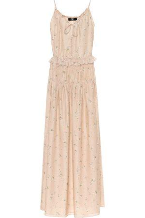 AMIRI Floral silk maxi dress