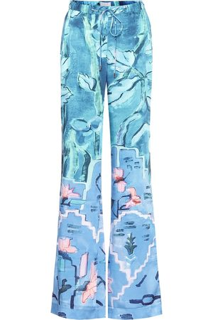 Peter Pilotto Floral twill wide-leg pants