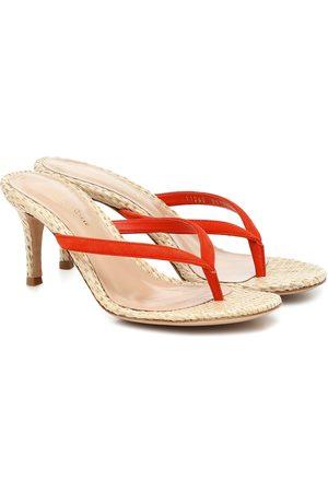 Gianvito Rossi Exclusive to Mytheresa – Calypso 70 raffia sandals