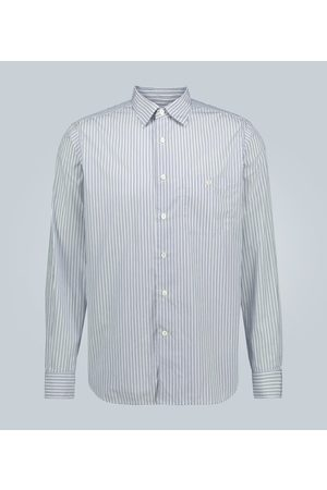 CARUSO Cotton slim-fit striped shirt