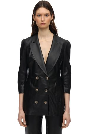 Zeynep Arcay Wrapped Leather Blazer