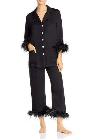Sleeper Women Nightdresses & Shirts - Feather-Trim Pajama Set - 100% Exclusive