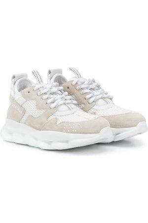 VERSACE Low-top mesh sneakers - Neutrals