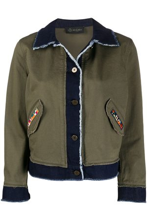 Mr & Mrs Italy Women Jackets - Contrast panel frayed detail jacket