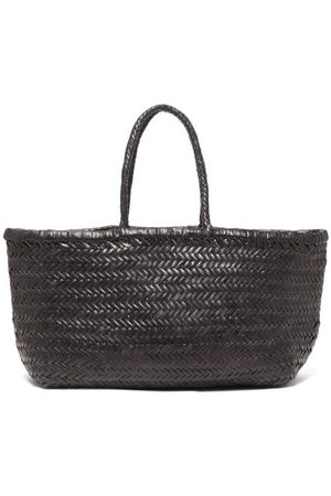 Dragon Diffusion Women Bags - Triple Jump Large Woven-leather Basket Bag - Womens