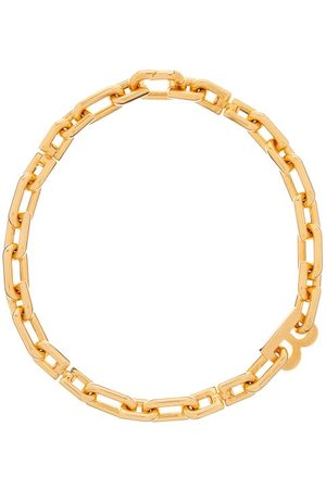Balenciaga Women Necklaces - B-logo Chain-link Necklace - Womens