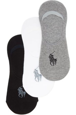 Polo Ralph Lauren Pack Of Three Stretch-cotton Trainer Socks - Mens - Multi