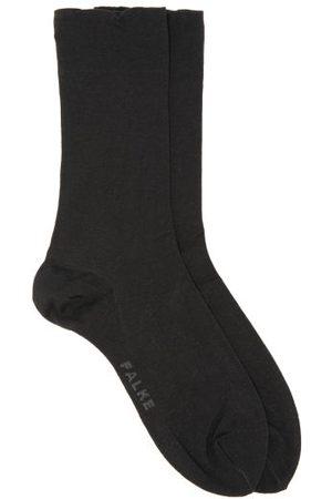 Falke Logo-jacquard Cotton-blend Socks - Womens