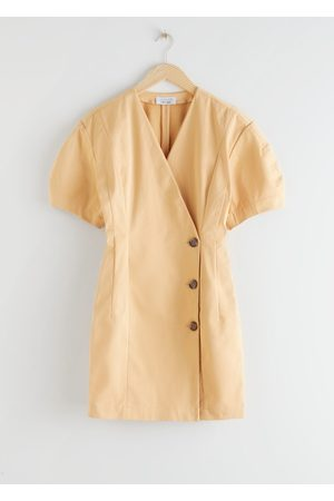 & OTHER STORIES Fitted Button Wrap Mini Dress