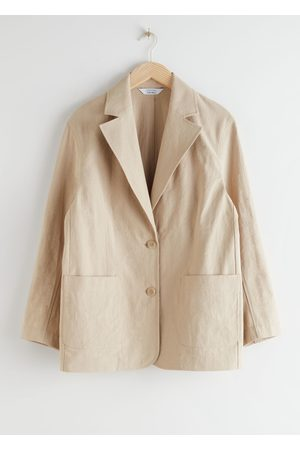 & OTHER STORIES Linen Blend Oversized Blazer