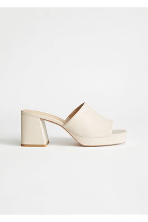 & OTHER STORIES Leather Heeled Platform Mules