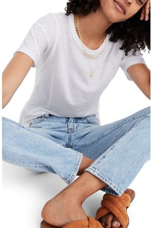 Madewell Women's Whisper Cotton Ribbed Crewneck T-Shirt