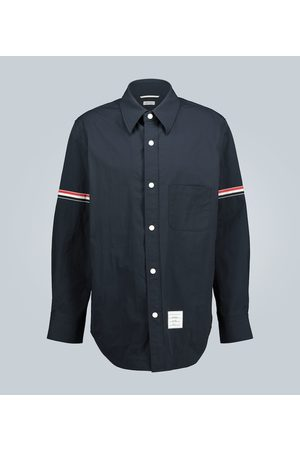 Thom Browne Shirt jacket with grosgrain armband