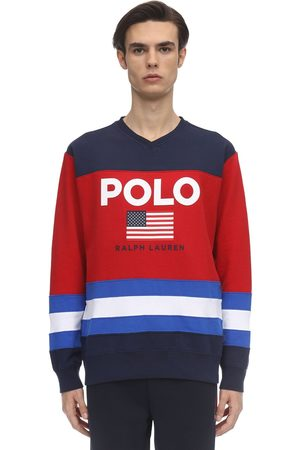 Polo Ralph Lauren Color Block Cotton Blend Sweatshirt