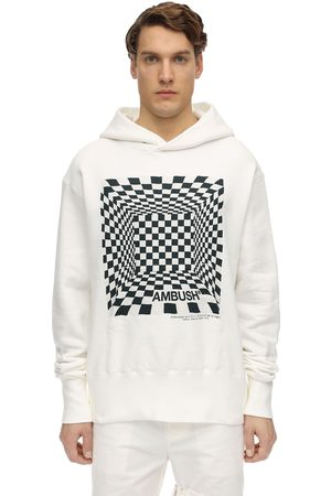 AMBUSH Printed Cotton Jersey Sweatshirt Hoodie