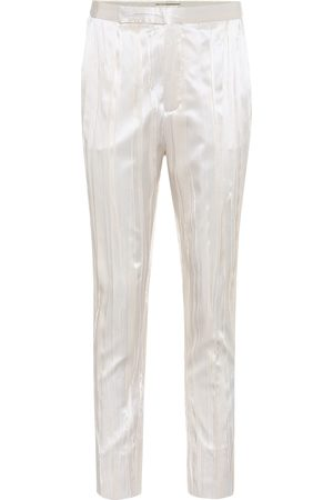 Saint Laurent Pleated silk-blend satin pants
