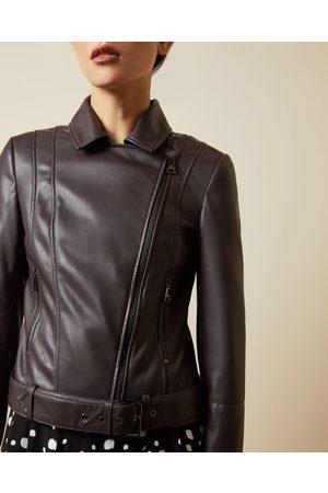 Ted Baker Faux Leather Biker Jacket