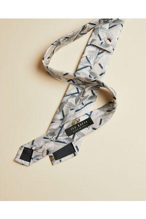 Ted Baker Men Pocket Squares - Geo Floral Print Silk Tie