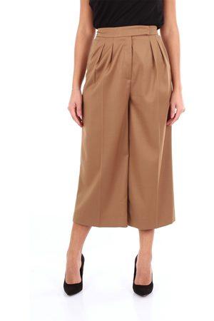 Lory Women Chinos - Chino Women Hazelnut polyester - viscose and elastane