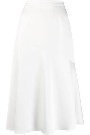 BLANCA Asymmetric seam detail skirt