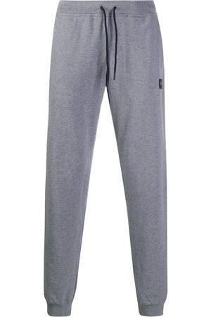 Paul & Shark Men Sweatpants - Logo patch joggers - Grey