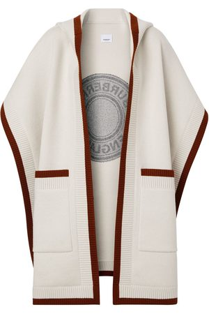 Burberry Logo hooded cape - Neutrals