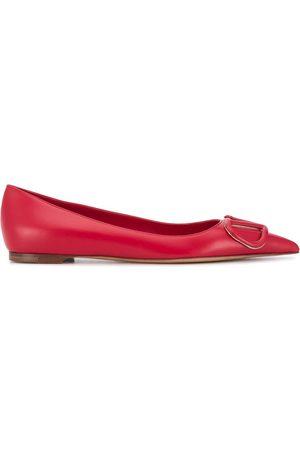 VALENTINO GARAVANI VLOGO pointed ballerina shoes