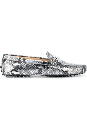 Tod's Women Loafers - Gommino snake print driving shoes