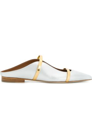 MALONE SOULIERS Women Ballerinas - Maureene pointed ballerina shoes - Metallic