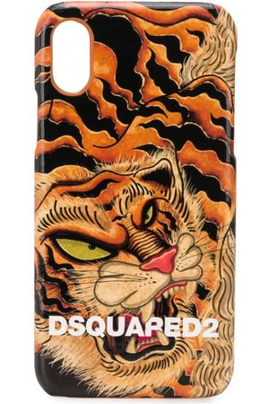 Dsquared2 Men Phones Cases - Tiger print iPhone X case