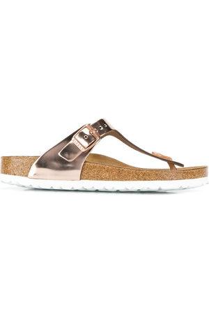 Birkenstock Women Sandals - Metallic thong strap sandals