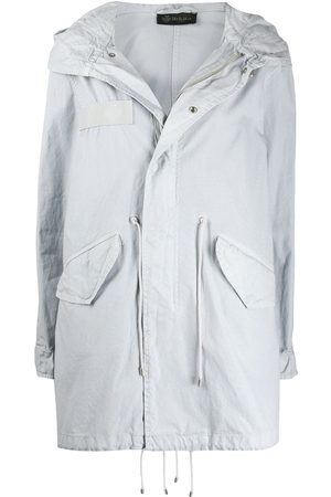 Mr & Mrs Italy Women Parkas - Drawstring detail hooded parka coat - Grey
