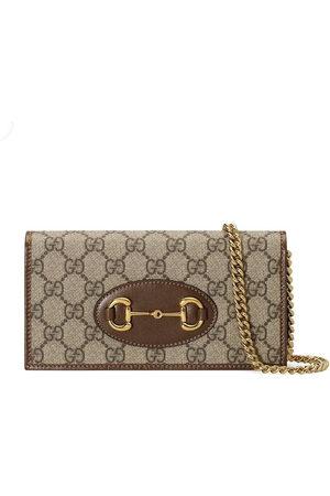 Gucci 1955 Horsebit wallet with chain - Neutrals