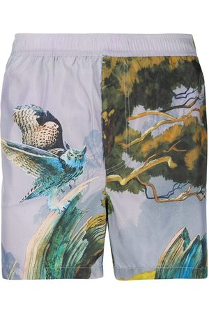 VALENTINO Men Swim Shorts - Floating Island swim shorts - Grey
