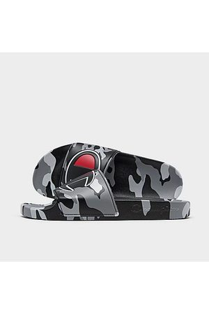 Champion Men's IPO Camo Slide Sandals in Grey Size 8.0