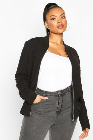 Boohoo Womens Plus Quilted Sweat Zip Through Bomber - - 12