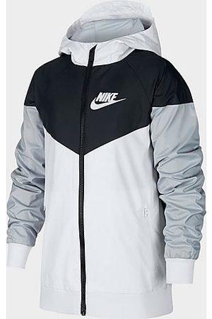 Nike Boys Jackets - Boys' Sportswear Windrunner Jacket in White/White