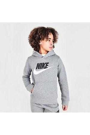 Nike Boys' Sportswear HBR Club Fleece Hoodie in Grey