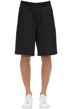 Neil Barrett Oversize Cupro & Viscose Shorts